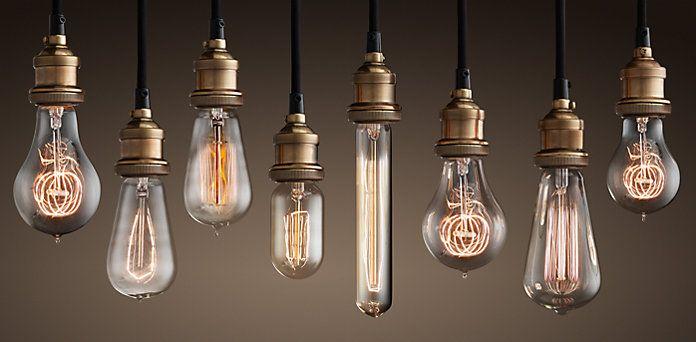 Vintage style light bulbs from Restoration hardware