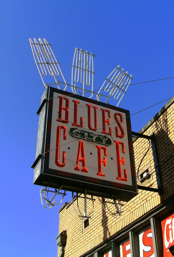 Blues City Cafe Neon Sign, Beale Street, Memphis Tennessee
