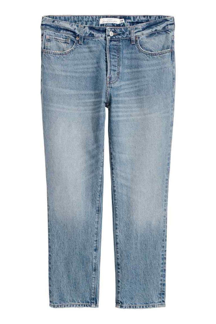 Girlfriend Jeans - Jasnoniebieski denim - ONA   H&M PL