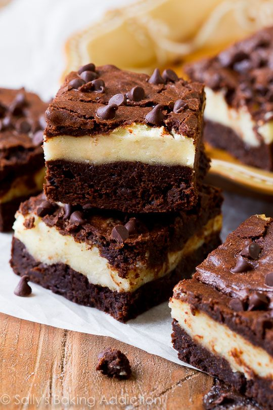 Mocha Cheesecake Brownies! The homemade brownie layer is BY FAR the fudgiest brownie I've ever had!