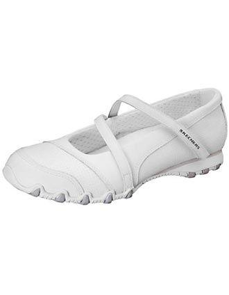 White Nursing Sneakers for Women | White Nursing Shoes on Skechers Footwear Womens Hobbie Wide White ...