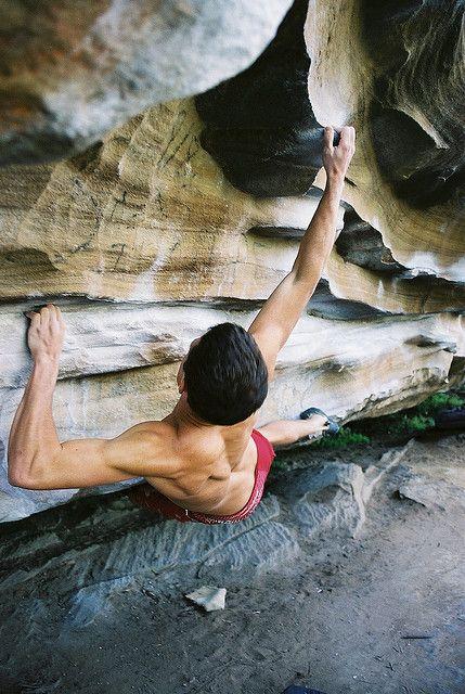 ♂ Adventure outdoor rock climbing Brendon on Hands off my Detonator
