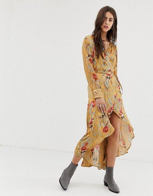 1ce4196c1c7 Aratta satin wrap dress in romantic floral in 2019 | Jen's wedding ...