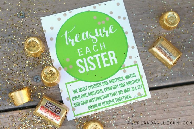 treasure each sister visiting teacher free printable from A Girl and a Glue Gun