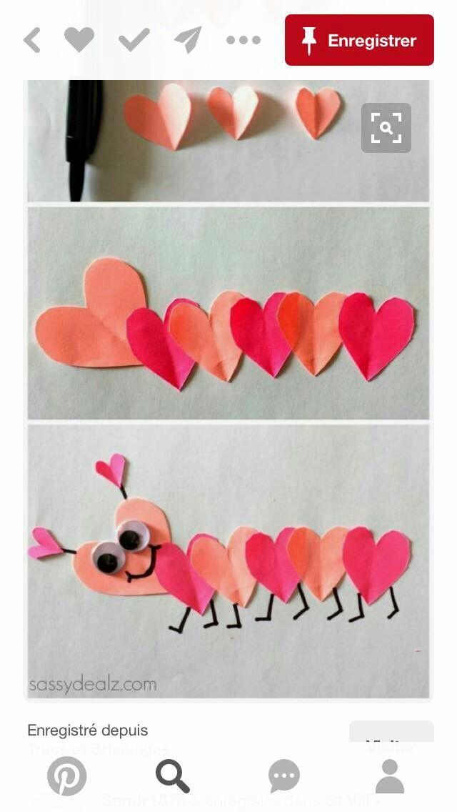 Chenille en cœur