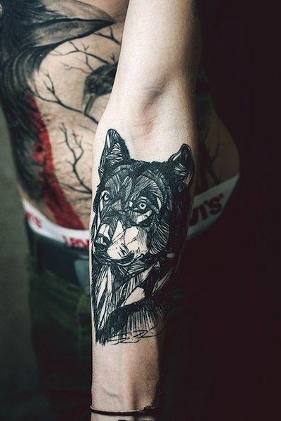 Wolf tattoo tumblr arm - photo#38