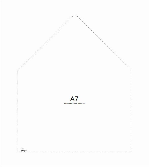 A7 Envelope Liner Template In 2020 Envelope Liner Template A7