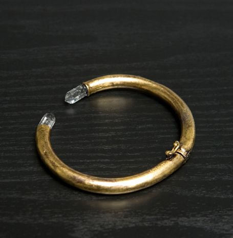 Low Luv Erin Wasson Double Crystal Cuff in Gold.