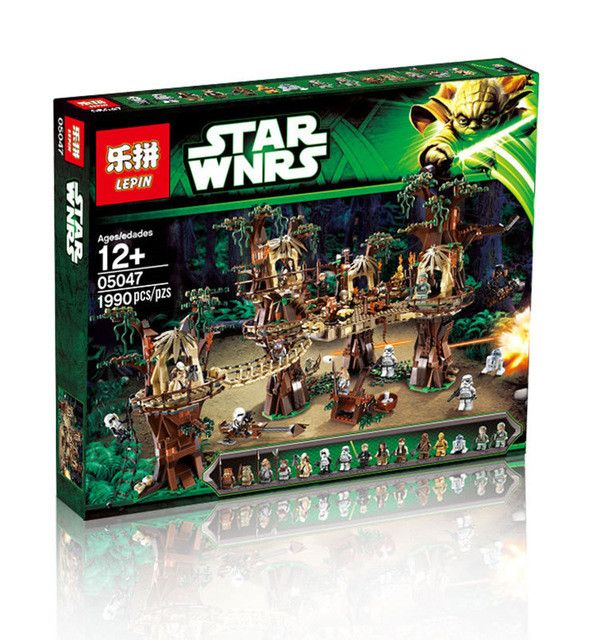 2016 LEPIN 05047 1990Pcs Star Wars Ewok Village Model Building