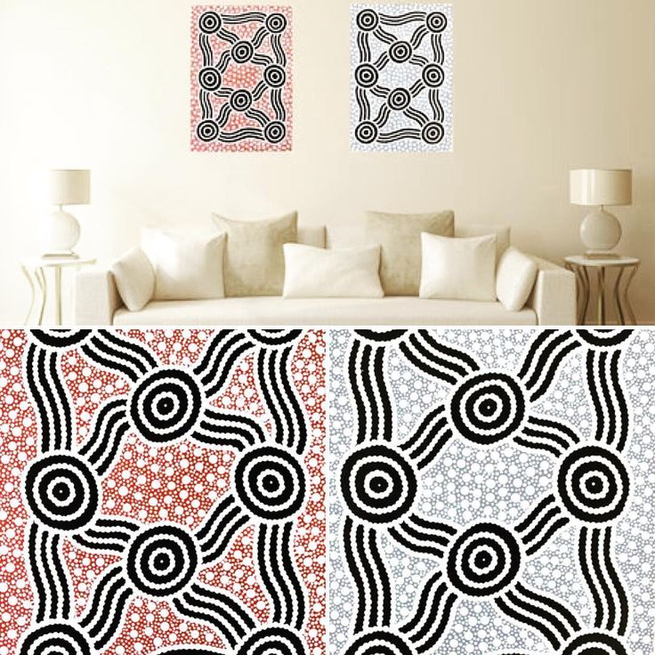 Ngapa Jukurrpa by Marlene Napanangka Presley. The paintings represent the waterholes, rivers, lakes, valleys, creeks and other areas the rain fills up. It represents the running of the water when water hits the earth. #aboriginal #aboriginalart #dot #dotpainting #dots #aboriginalartwork