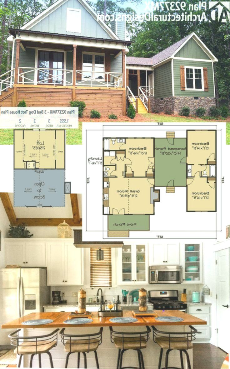 Plan 92377mx 3 Bed Dog Trot House Plan With Sleeping Loft House House Plan With Loft Dog Trot House Plans House Plans