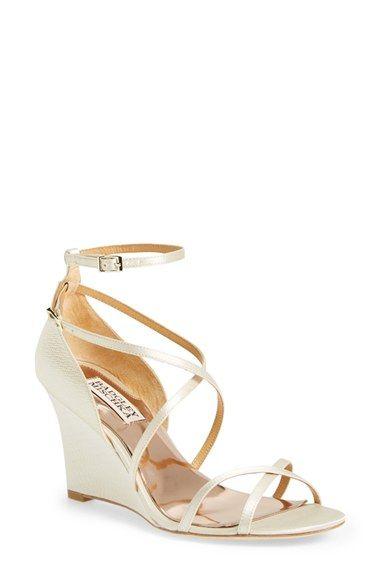 Wedge wedding heels for beach and outdoor weddings | Badgley Mischka at Nordstrom | Dress for the Wedding
