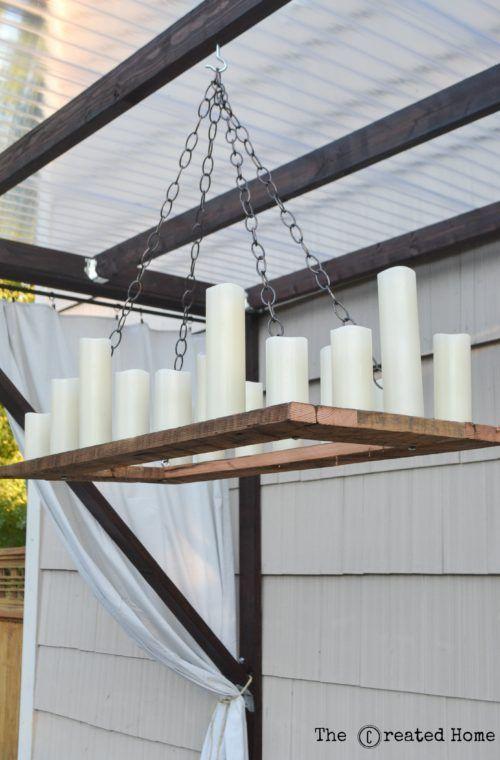 Best 25 outdoor chandelier ideas on pinterest rustic chandelier garden lighting planner and - Outdoor chandelier diy ...