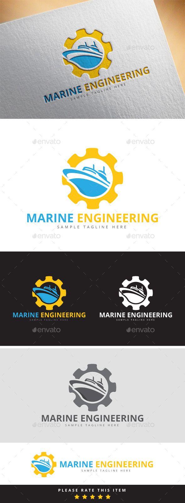 Merchant Marine Engineer Logo