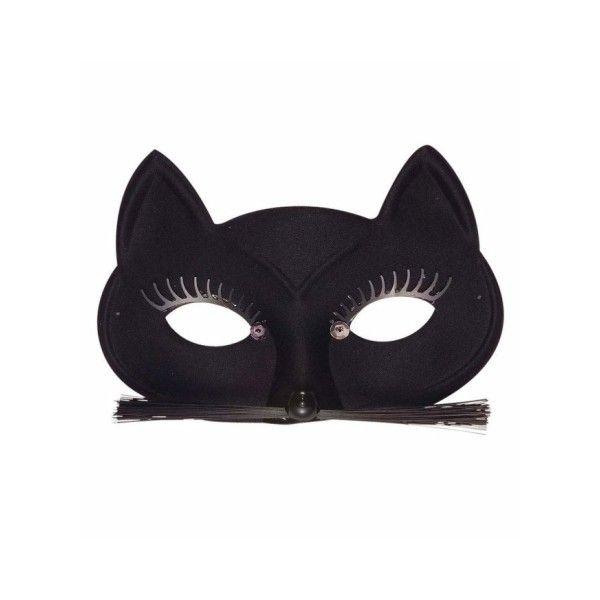 Jedyna w swoim rodzaju maska kobiety kot, z rewelacyjnymi wąsami i rzęsami. Posiada zamocowaną gumkę, ułatwiającą mocowanie. Idealna jako dodatek do przebrania kocicy.