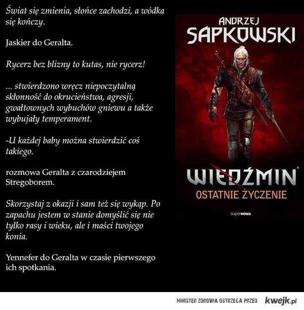 Image result for wiedźmin cytaty