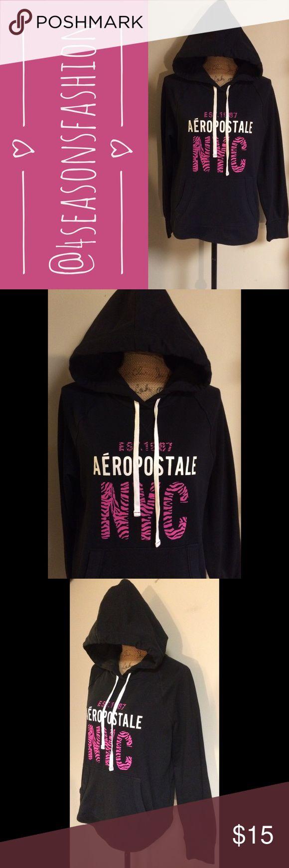🎃BRAND NEW LISTING 🎃 AEROPOSTALE LONG SLEEVE THIN HOODIE IN LIKE NEW CONDITION SZ XL juniors. Aeropostale Tops Sweatshirts & Hoodies