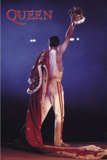 Queen Freddy Mercury Band Crown Rare Poster