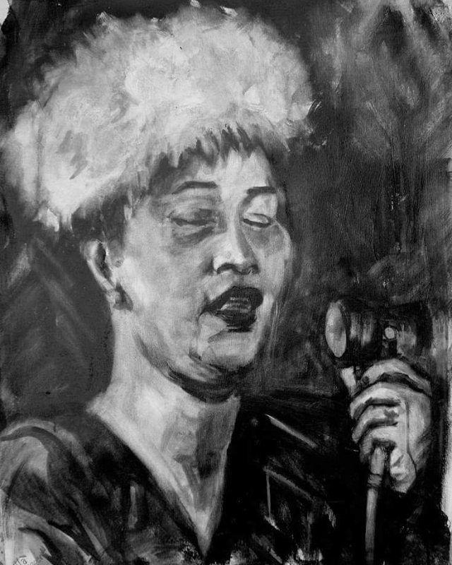 """Jazz it up a little"" της #Tonia_Ainot !  με #πορτρέτα θρύλων της #Jazz !  έως και 7 Μαΐου στην γκαλερί ""Tesla"" της #BABEL !  #έκθεση #ζωγραφικής #artcore #artspace #art #βαβέλ #BABEL #πολυχώρος #τέχνη #ArtArea #art #live #marousi #μαρουσι #συναυλία #Εκθέσεις #jazz #ella #fitzgerald #Tonia_Ainot"