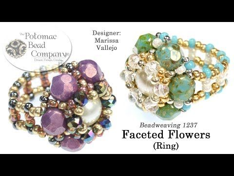 Faceted Flowers Ring (DIY Tutorial) - YouTube