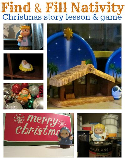 nativity lesson and game for kids