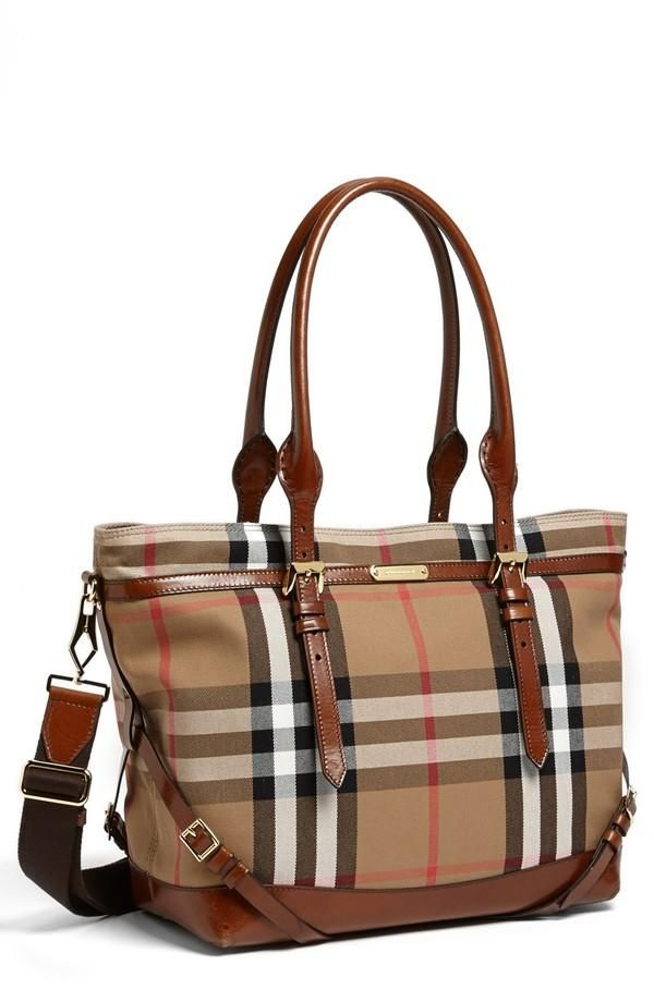 Burberry Diaper Bag available at This bag is gorgeous! Burberry diaper bag  - enough said!
