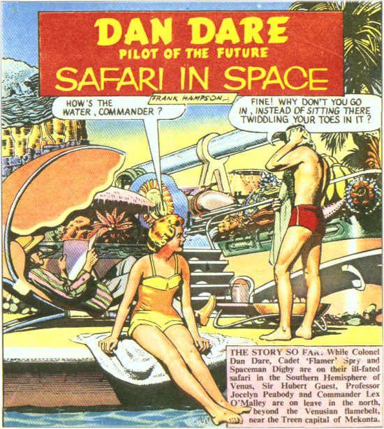 Dan Dare, a terribly English Space Pilot!