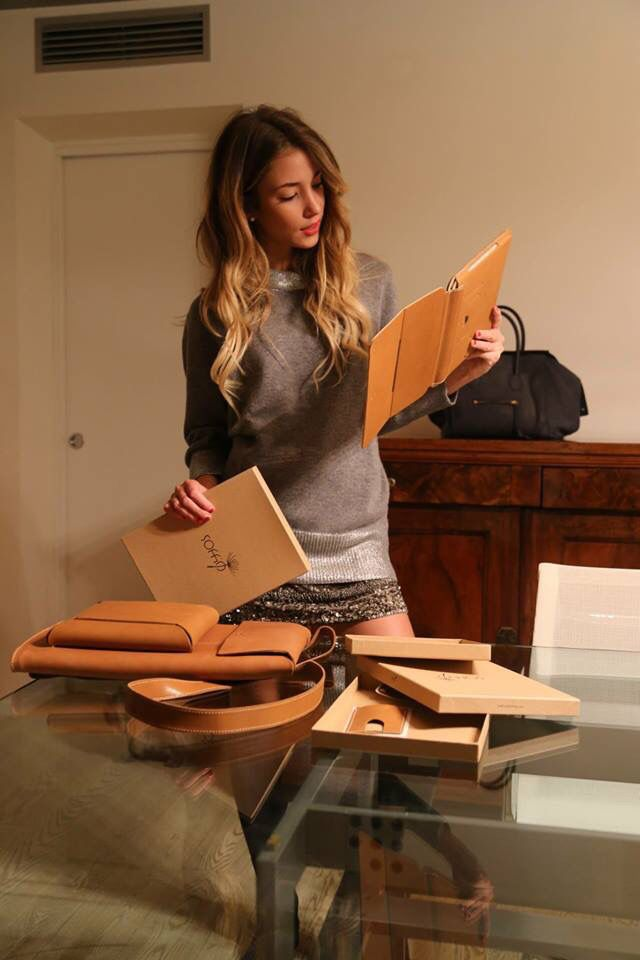 The beautiful Alice Campello with our #Ipad Air Folio Case, #Macbook Sleeve…
