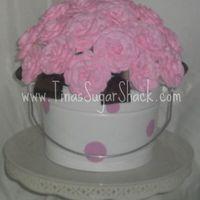 Pink/brown mini cupcake bouquet