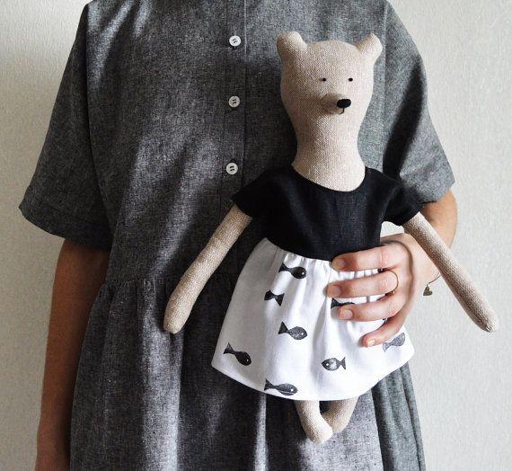 Louise The Bear. Stuffed Bear. Child friendly toys. Soft Bear - Best Friend for kids