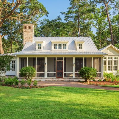 A charming Lowcountry house with a wide porch for sale in Palmetto Bluff, South Carolina