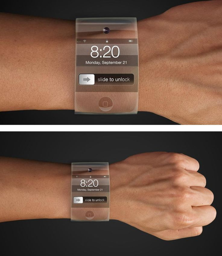 "Is it time for a change? Hard to say uh? But it looks inspiring. It is almost like having ""social media"" at your fingers! Apple iWatch Design Concepts"