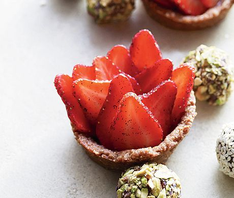 Strawberry Tarts with Ginger-Nut Crust