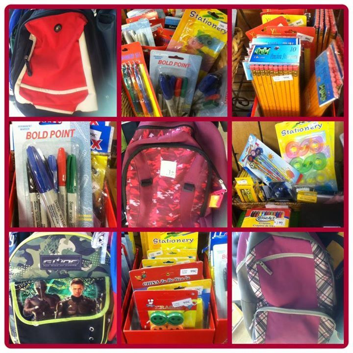 Back to school essentials right here at your local thrift store. Find notebooks, backpacks, pencils, pens, markers, papers, erasers, sharpers, etc, all at a convenient location with budget friendly prices.