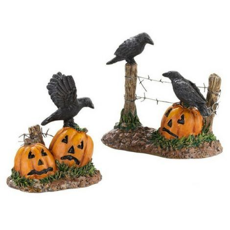 Halloween Ravens www.teeliesfairygarden.com Mark the entrance to your Halloween fairy garden party with these spooky Halloween ravens! The enchanted folks will know where the party is held! #fairyhalloween