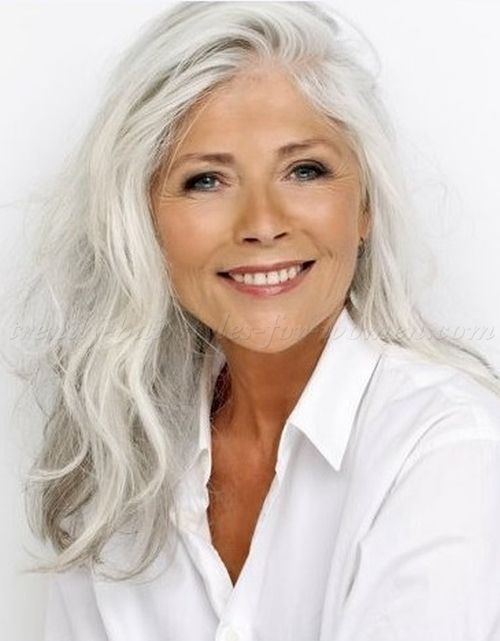 long grey hairstyles | long hairstyle for grey hair