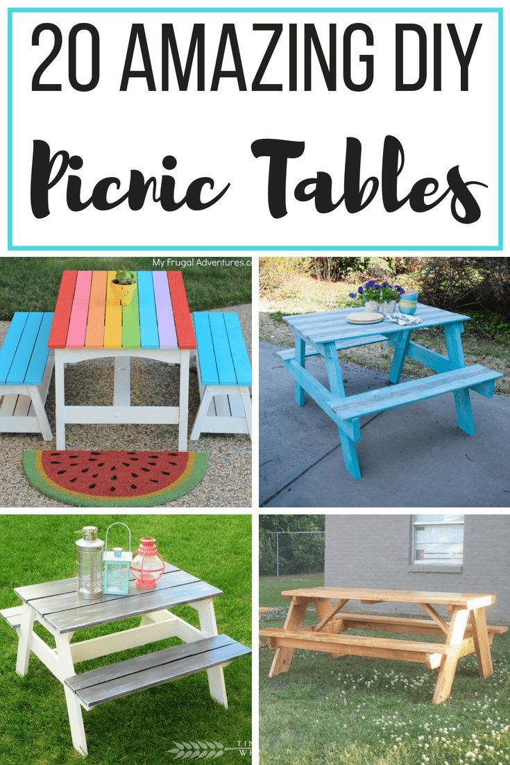 20 Diy Picnic Table Ideas To Build This Summer Diy Picnic Table