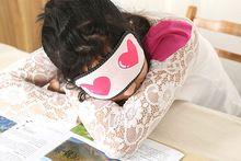 Novinkou kšiltem Spící oční maska Cotton eyepatch kryt pro Sleep Lovely srdce a hezké oči vzor 2 ks