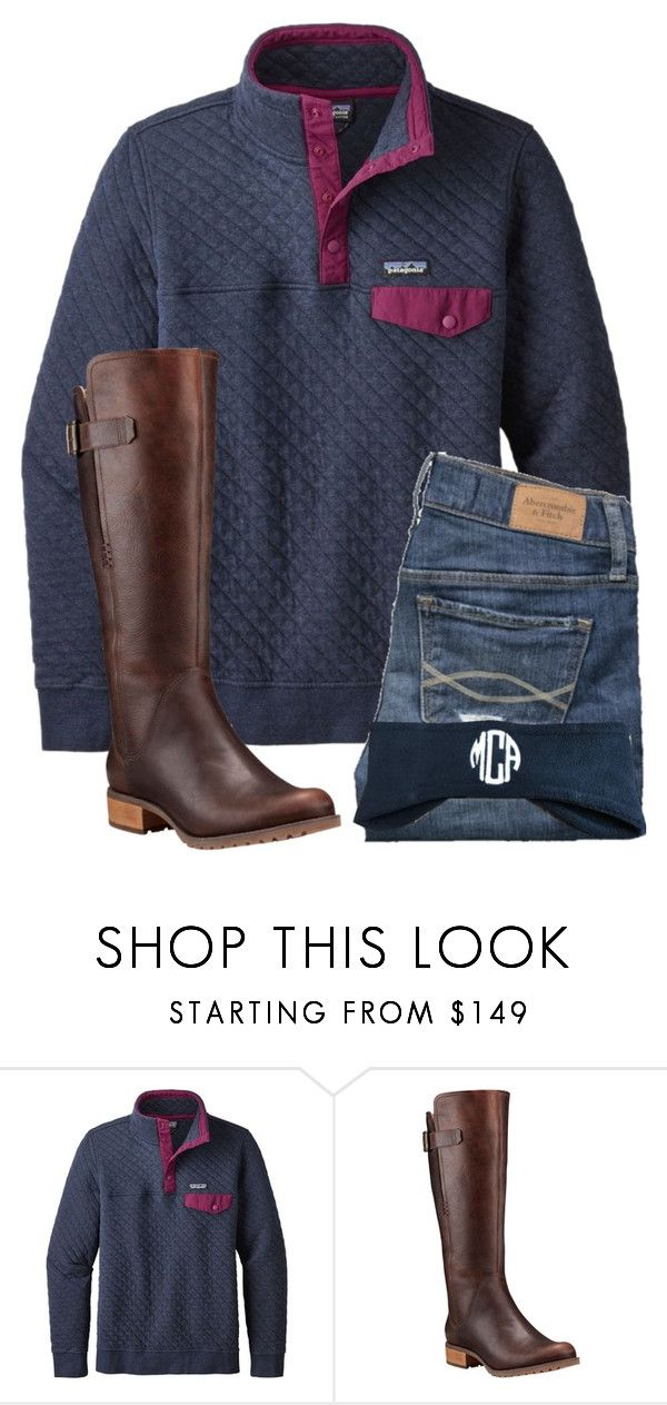 """3 MORE DAYS UNTIL CHRISTMAS!!!"" by preppypuffpuff on Polyvore featuring Patagonia, Abercrombie & Fitch and Timberland"