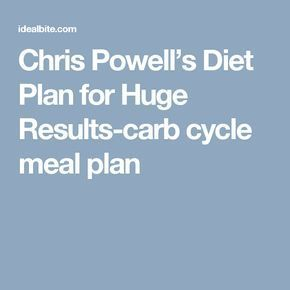 Chris Powell's Diet Plan for Huge Results-carb cycle meal plan