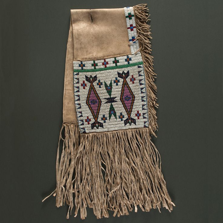 Sioux Beaded Hide Saddle Blanket   Cowan's Auction House