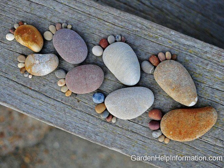 Garden Rock Feet. What a great idea for a path.