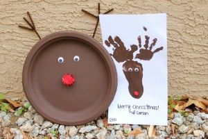 Reindeer kids crafts #holiday: Crafts For Kids, Heart Naps, Christmas Crafts, Crafts Ideas, Foot Prints, Kids Crafts, Paper Plates, Reindeer Crafts, Xmas Ideas