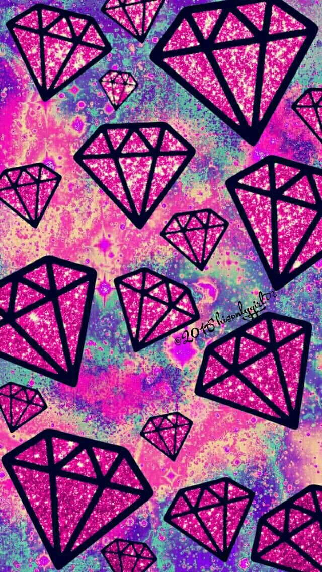 Vintage falling diamonds galaxy iPhone/Android wallpaper I created for the app CocoPPa.