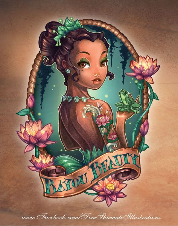 8 Disney Princesses As Fierce Vintage Tattooed Pin-Ups