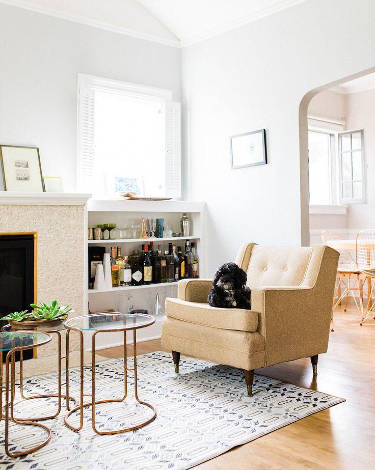 A Bright Friendly Los Angeles Home Bookshelf BarLiving Room