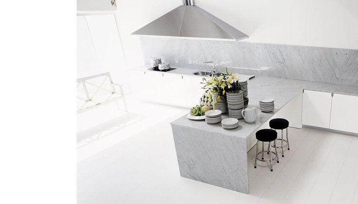 white cupboards grey worktop