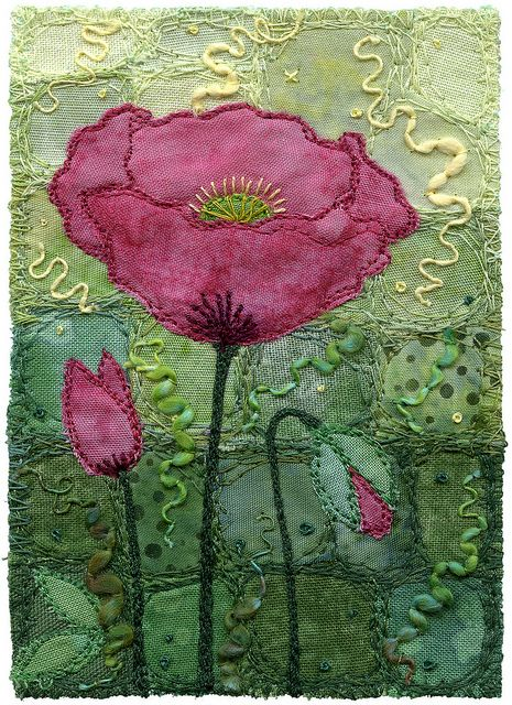 Opium Poppy by Kirsten's Fabric Art, via Flickr