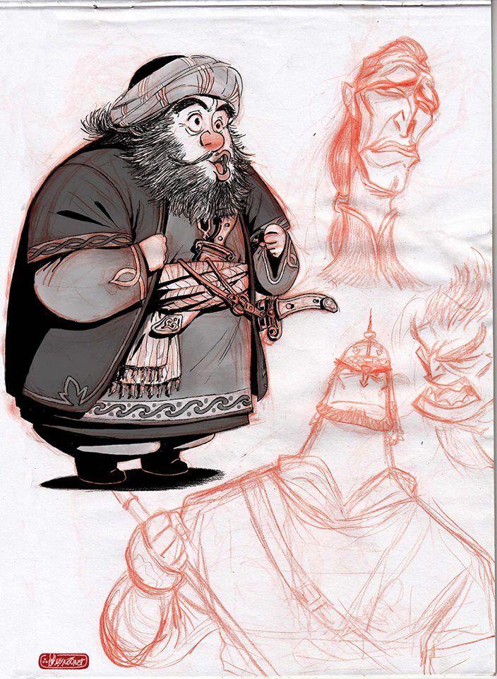 arabic costume sketches