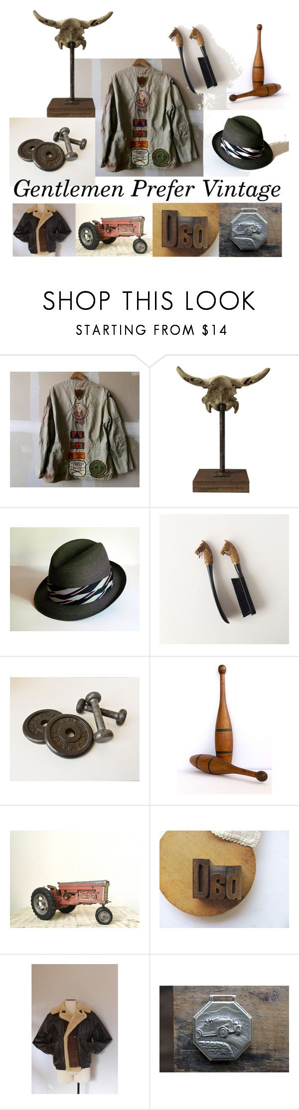 """Gentlemen Prefer Vintage"" by vintageandmain on Polyvore featuring Abercrombie & Fitch, vintage, men's fashion and menswear"